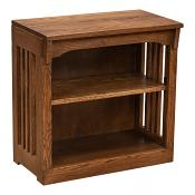 """24"""" x 24"""" Solid Oak Mission Spindle Bookcases"""