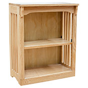 "24"" x 30"" Mission Spindle Bookcases"