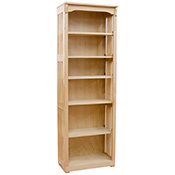 "24"" x 72"" Mission Spindle Bookcases"
