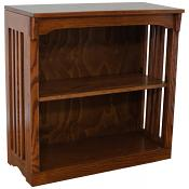 """30"""" x 30"""" Solid Oak Mission Spindle Bookcases"""