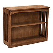 """36"""" x 30"""" Solid Oak Mission Spindle Bookcases"""