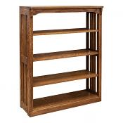 """36"""" x 48"""" Solid Oak Mission Spindle Bookcases"""
