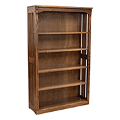 """36"""" x 60"""" Solid Oak Mission Spindle Bookcases"""