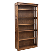 """36"""" x 72"""" Solid Oak Mission Spindle Bookcases"""