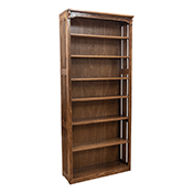 """36"""" x 84"""" Solid Oak Mission Spindle Bookcases"""