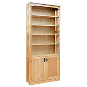 "36"" x 84"" x 12"" Mission Bookcase w/Doors"