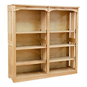 """48"""" x 48"""" Mission Spindle Bookcases"""