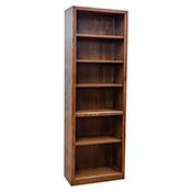"""Contemporary 24"""" x 72"""" Oak Bookcase"""