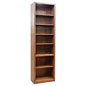 """Contemporary 24"""" x 84"""" Oak Bookcase"""