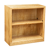 "Contemporary 30"" x 30"" Oak Bookcase, Light Oak"