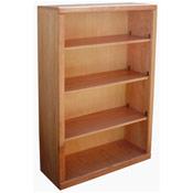 """Contemporary 30"""" x 48"""" Oak Bookcase, Light"""