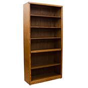 """Contemporary 36"""" x 72"""" Oak Bookcase"""