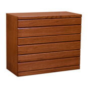 Contemporary Oak Cherry 3 Drawer Chest
