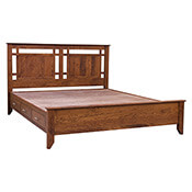 Yancy Cobler Chest Bed - Rustic Cherry