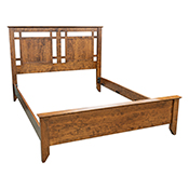 Yancy Cobler Queen Bed - Cherry Wood