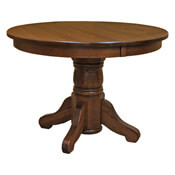 Traditional Amish 42 Round Dining Table