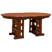 """44"""" x 72"""" Greene & Greene Gamble Table w/ 4-Leaves"""