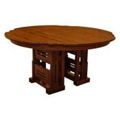 """60"""" Round Greene & Greene Table w/ 6-Leaves"""