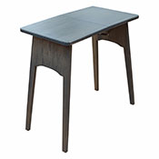 Cherry Wood  Amish Folding Table-Pewter