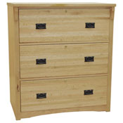 Three-Drawer Mission Lateral File Cabinet