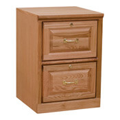 Traditional Two-Drawer File Cabinet Light