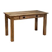 """Amish Heavy 3"""" Legs Desk,  Brown Maple  Cocoa"""