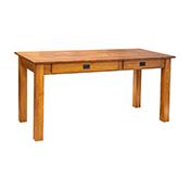 "Amish Heavy 3"" Legs Desk, 1/4 Sawn Oak"