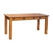 """Amish Heavy 3"""" Legs Desk, OAK"""