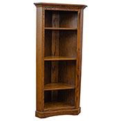 Amish Corner Bookcase