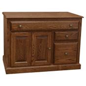 "42"" Amish Traditional Credenza Desk"