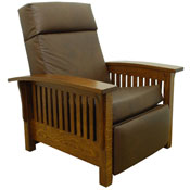 "Amish-Made Morris 36"" Wide Leather Recliner"