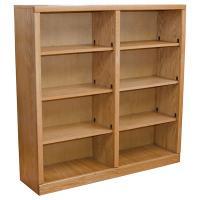 "Contemporary 48"" x 48"" Oak Bookcase, Light Oak"