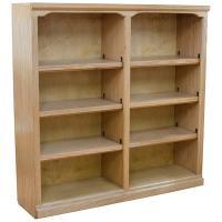 "Traditional 48"" x 48"" Oak Bookcase"