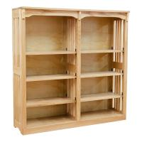 "48"" x 48"" Mission Spindle Bookcases"