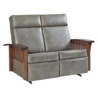 Faux Leather, Love Seat Glider Recliner
