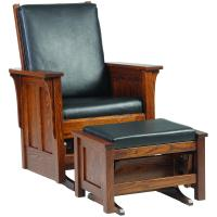 Shaker Glider with Ottoman