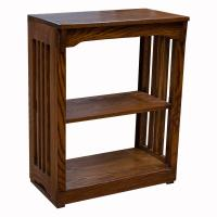 "24"" x 30"" Solid Oak Mission Spindle Bookcases"