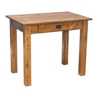 "Amish Heavy 3"" Legs Desk,  Character Quarter Sawn Oak"