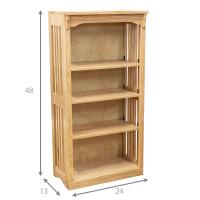 """24"""" x 48"""" Mission Spindle Bookcases"""