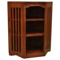 "22"" x 36"" Mission Spindle Corner Bookcase"