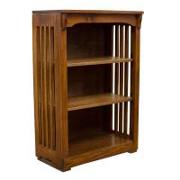 "24"" x 36"" Solid Oak Mission Spindle Bookcases"
