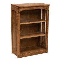 """24"""" x 36"""" Solid Oak Mission Spindle Bookcases"""