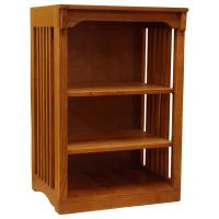 "24"" x 36"" Solid Oak Mission Spindle Compact Bookcase"