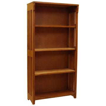 """48""""x24"""" Solid Oak Mission Spindle Bookcase"""