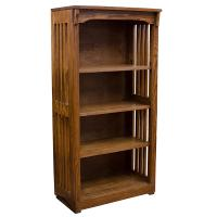 "24"" x 48"" Solid Oak Mission Spindle Bookcases"