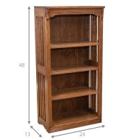 """24"""" x 48"""" Solid Oak Mission Spindle Bookcases"""