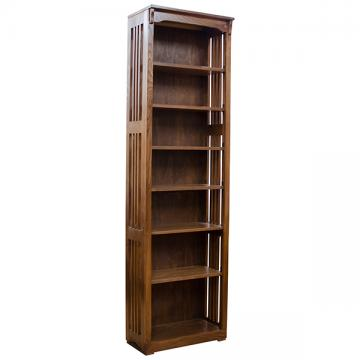 """24"""" x 84"""" Solid Oak Mission Spindle Bookcases"""