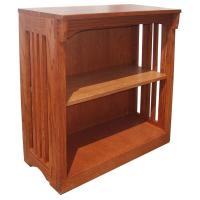 "30"" x 30"" Solid Oak Mission Spindle Bookcases"