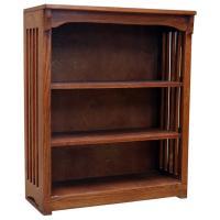 "30"" x 36"" Oak Mission Spindle Bookcase"