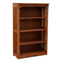 """30"""" x 48"""" Solid Oak Mission Spindle Bookcases"""